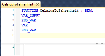 09 Empty CelsiusToFahrenheit Function