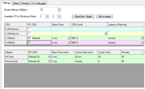 16 Real-Time Settings Select CPUs 2 and 3