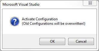 TwinCAT 3: Activate Configuration dialog