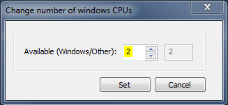 TwinCAT 3: Change number of windows CPUs - set to 2