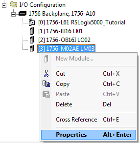 RSLogix 5000 - Create Axis - M02AE Properties