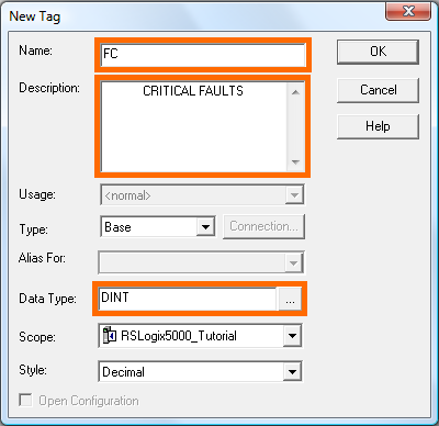 RSLogix 5000 Tutorial - New Fault Tag Fields