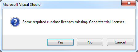 TwinCAT 3: Generate Trial licenses dialog