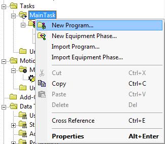 RSLogix 5000 - New Program