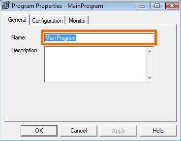 RSLogix 5000 - Program Properties