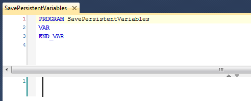 SavePersistentVariables program - empty