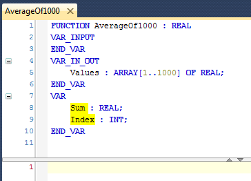 04 Declare Sum and Index as VAR