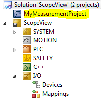 04 Measurement Project added in Solution Explorer