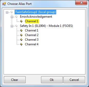 15 Choose Alias Port Dialog - ErrorAcknowledgement