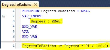 25 Define DegreesToRadians Function