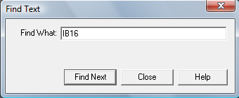 RSLogix 5000 - Find Text Dialog