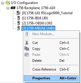 RSLogix 5000 - Create Axis - M02AE Properties