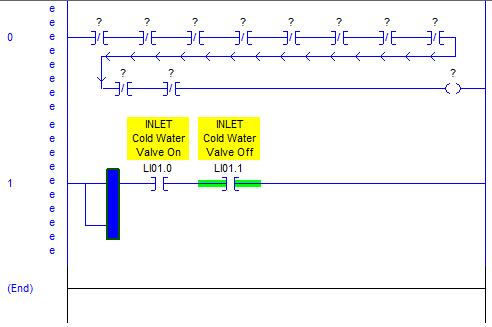 RSLogix 5000 Tutorial - Branch Inserted