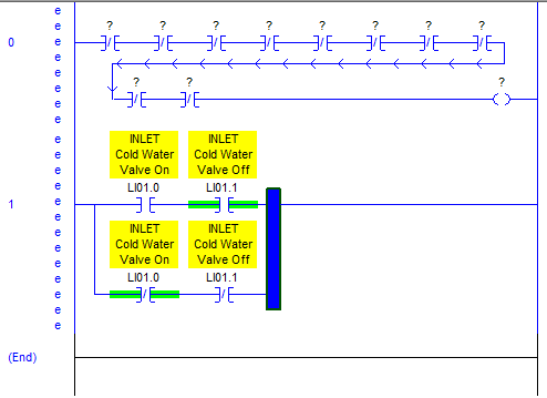 RSLogix 5000 Tutorial - select right side of branch