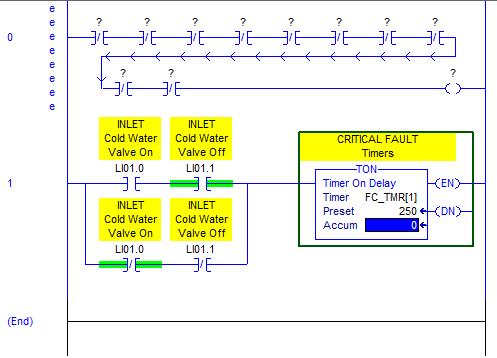 RSLogix 5000 Tutorial - Finished entering timer instruction