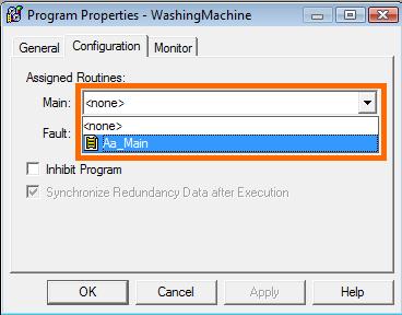 RSLogix 5000 - Program Properties - Configuration