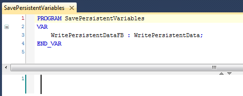 SavePersistentVariables program - with variable