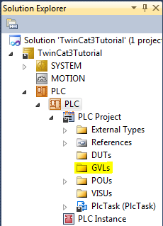 Solution Explorer with GVLs highlighted